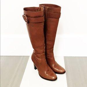 BANANA REPUBLIC Cognac Leather Knee Boots EUC